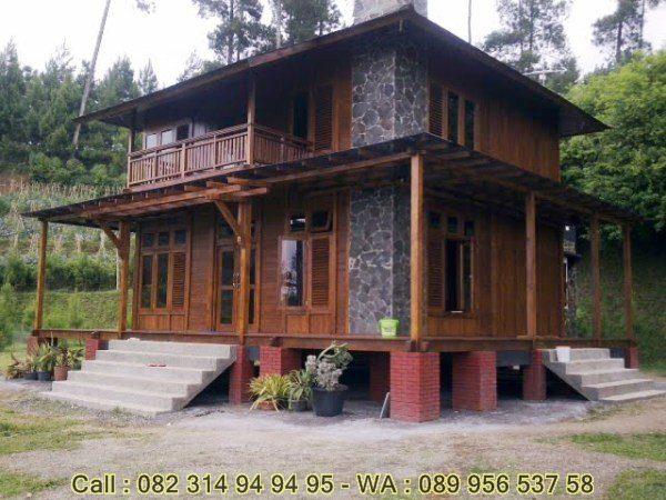 Jual Rumah Kayu Dua Lantai Rumah Kayu 2 Lanti Murah Rumah Kayu