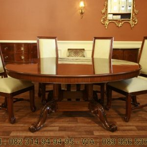 Meja Makan Kayu Kaca