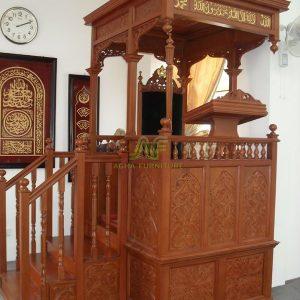 Mimbar Masjid Ukiran Kayu Jati