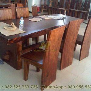 Meja Makan Kayu Suar / Meh