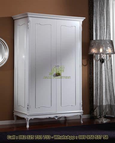 Lemari Pakaian Duco Putih 2 Pintu